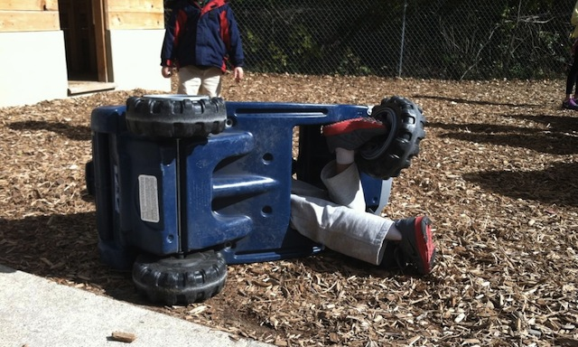 rough day on the kindergarten playground -