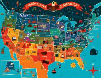 USA Map www.infographicality.com