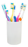 five-tooth-brushes-interdental-brush-ceramic-glass-family-set-toothbrushes-isolated-white-background-49345036